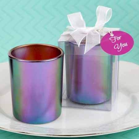 STUNNING IRIDESCENT CANDLE HOLDER WITH TEA LIGHT CANDLE  Weddings