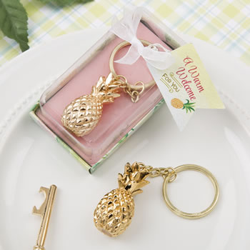 Gold Pineapple Themed Key Chain200  Weddings
