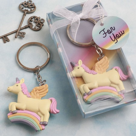 CLEARANCE DELIGHTFUL UNICORN DESIGN KEY CHAIN baby shower favors