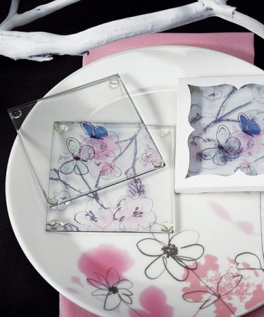 Artistic Botanical Coaster Set Weddings