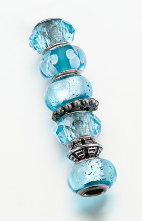 Set of 7 Assorted Aqua Beads200  Weddings