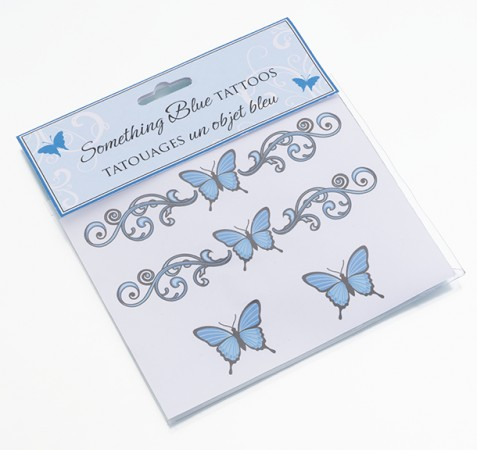 Something Blue Temporary Tattoos200  Weddings