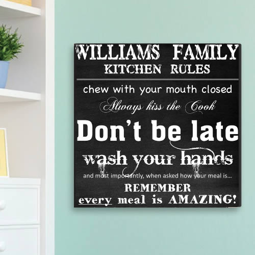 "Personalized 14"" x 14"" Canvas - Kitchen Rules200  Weddings"