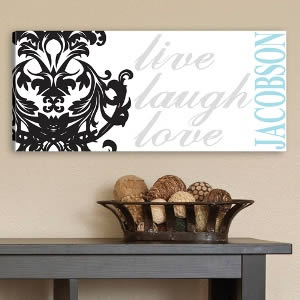 "Personalized 8"" x 18"" Canvas - Elegant Family Inspiration200  Weddings"