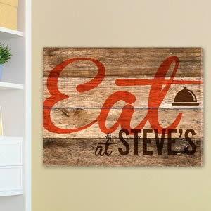 "Personalized 18"" x 24"" canvas - Reclaimed Kitchen200  Weddings"