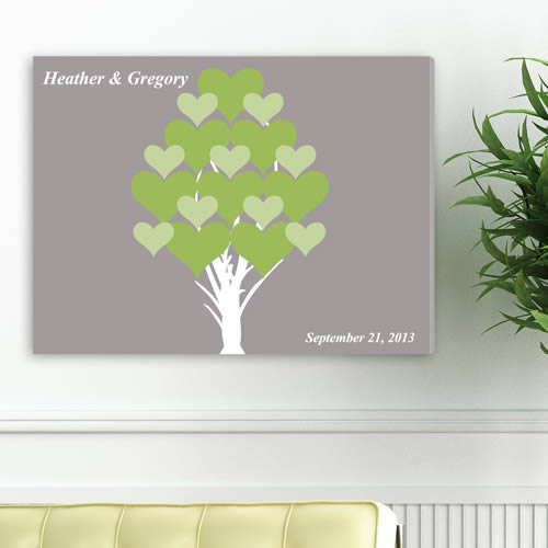 Personalized 18 x 24 Canvas - Blooming Heartswholesale/CA0050h.jpg Wedding Supplies