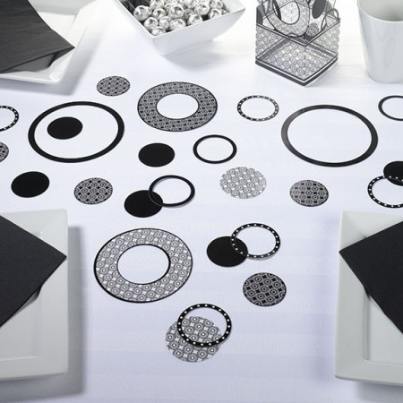 Black Circle Confettiwholesale/CN190_____CB.L.jpg Wedding Supplies