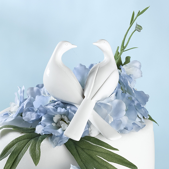 White Doves Cake Pickwholesale/CT225_____W_.L.jpg Wedding Supplies