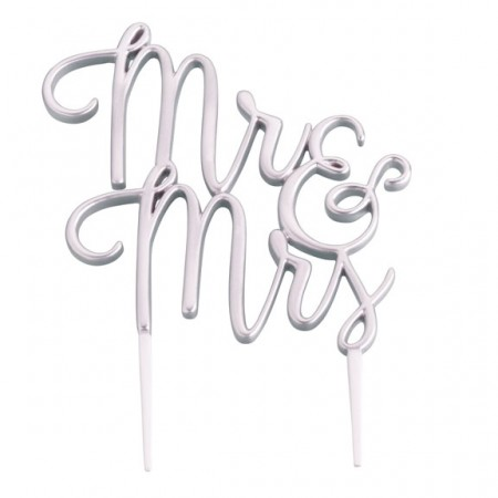 Silver Mr. & Mrs. Cake Topper200  Weddings