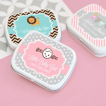Baby Shower Mint Tins Favors baby shower favors