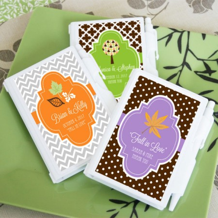Fall for Love Personalized Notebook Favors  Weddings