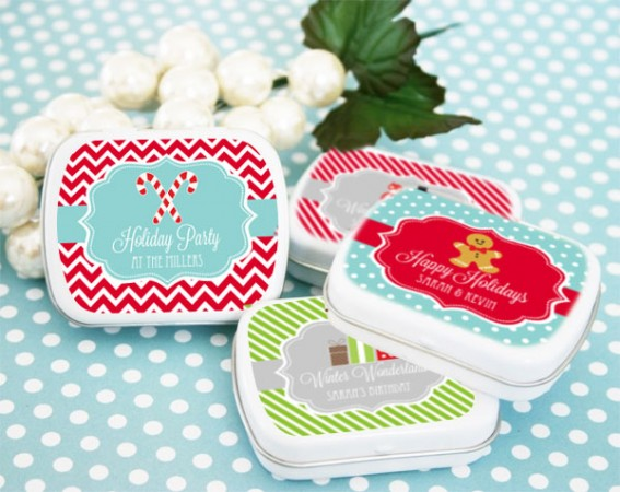 Winter Holiday Mint Tins Favor  Weddings