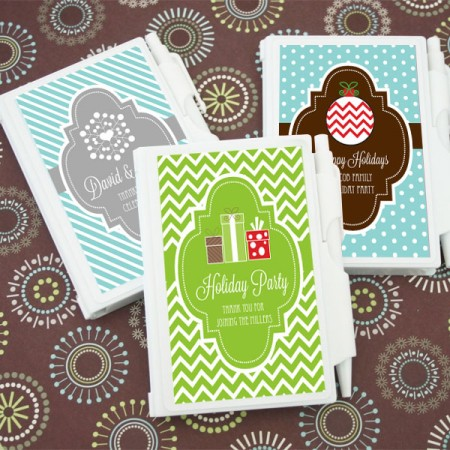 A Winter Holiday Custom Notebook Favors  Weddings