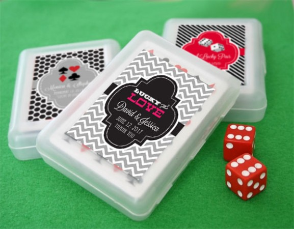 Lucky Pair Las Vegas Nevada Theme Wedding Playing Cards  Weddings