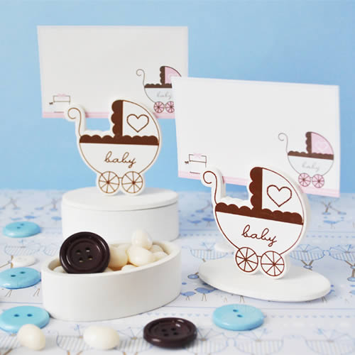 Baby Carriage Place Card Favor Boxes (set of 12) baby shower favors