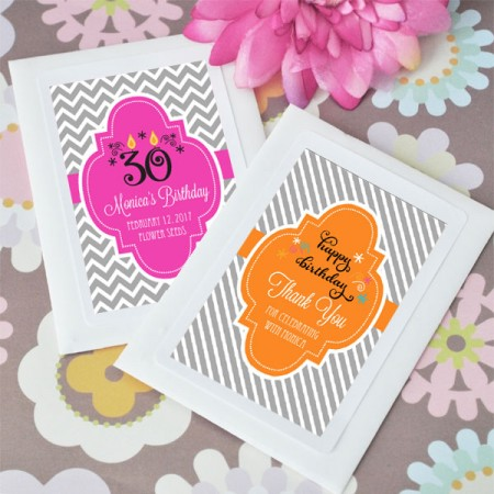 Personalized Birthday Favors -  Seed Pouches / Packets200  Weddings