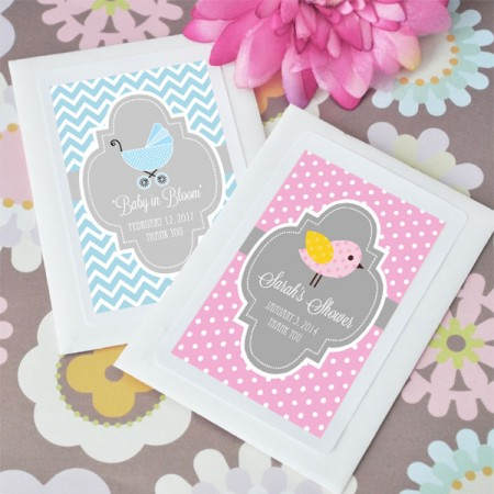 Baby in Bloom Personalized Shower Seeds baby shower favors