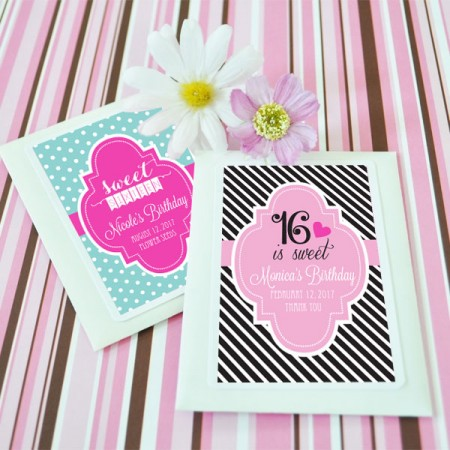 Sweet 16 Birthday (or 15) Personalized Seeds - Wildflower Favors200  Weddings