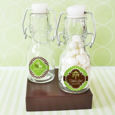 Fall for Love Personalized Mini Glass Bottles  Weddings