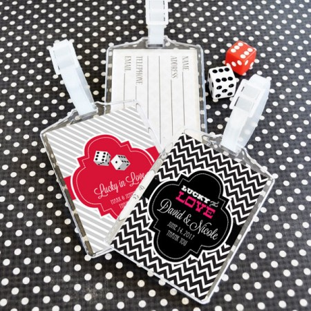 Las Vegas Honeymoon Acrylic Luggage Tags200  Weddings