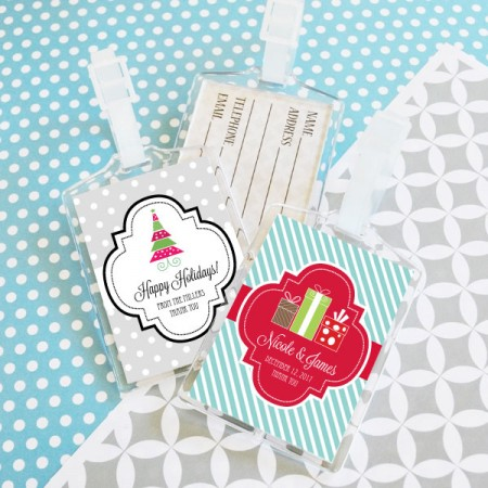Winter Holiday Acrylic Luggage Tags  Weddings