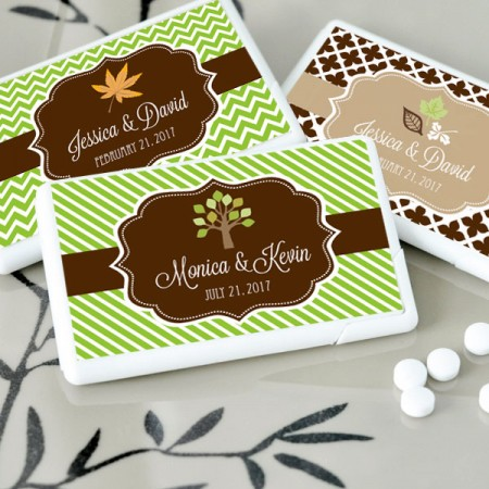 Personalized Fall Mini Mint Favors - Wholesale200  Weddings