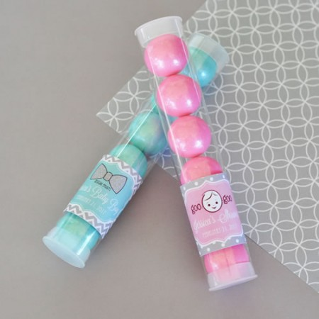 Baby Shower Personalized Candy Favor Tubes  - Wholesale baby shower favors