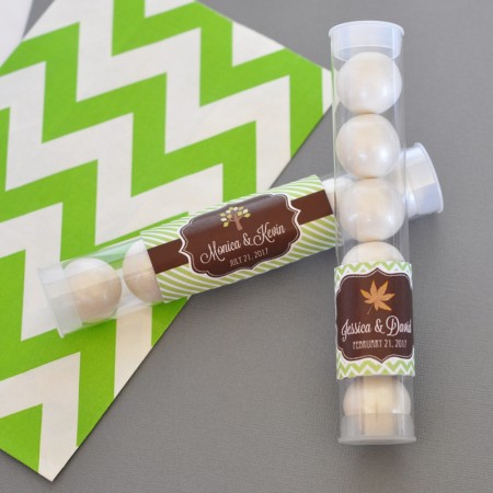 Fall for Love Personalized Candy Favor Tubes  - Wholesale  Weddings