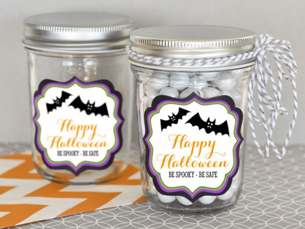 Personalized Spooky Scary Halloween Mini Mason Jars200  Weddings