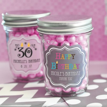 Birthday Mini Mason Jars - Wholesale  Weddings