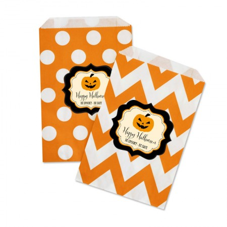 Classic Personalized Halloween Goodie / Treat Bags Set of 12wholesale/EB2358CHLWN_large1.jpg Wedding Supplies