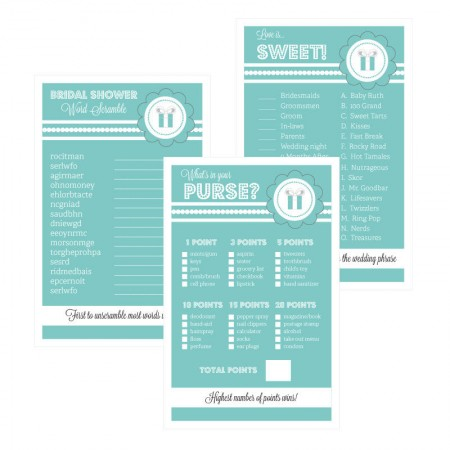 Something Blue, Word Scramble, What's in your purse, Love is Sweet Bridal Showerwholesale/EB3027SB_large1.jpg Wedding Supplies