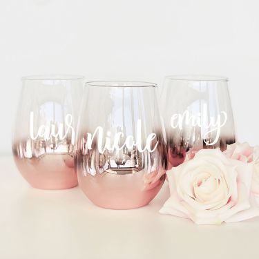 Personalized Stemless Glass - Rose Goldwholesale/EB3308P_large1_375x375.jpg Wedding Supplies