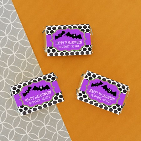 Personalized Spooky Halloween Mini Candy Bar Wrapperswholesale/EB4002SHLWN_large1.jpg Wedding Supplies
