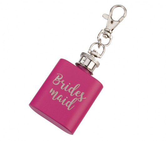Pink Mini Bridesmaid Flask200  Weddings