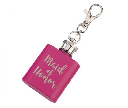 Pink Mini Maid of Honor Flask200  Weddings