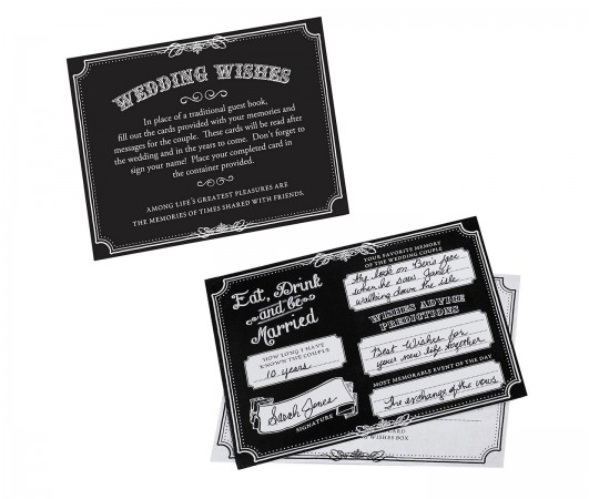 Wishes Cards Black-Set of 48200  Weddings
