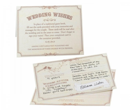 NEW Wishes Cards Tan - Set of 48200  Weddings