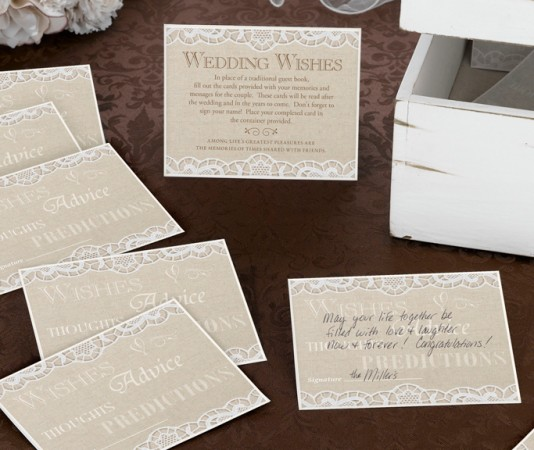 Country Lace Guest Cards- Set of 48wholesale/GA510_______.L.jpg Wedding Supplies