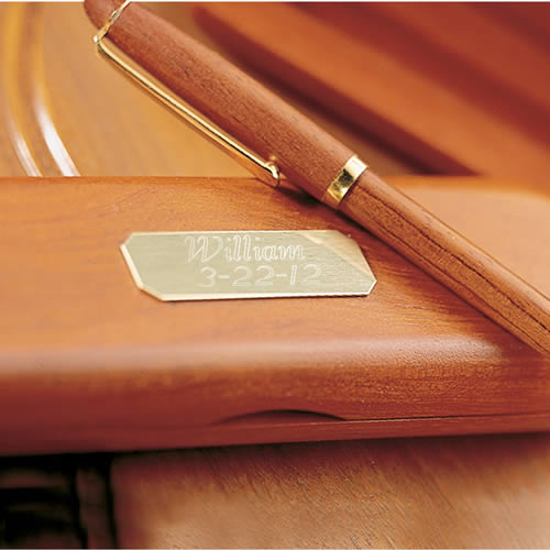 Personalized Rosewood Pen and Casewholesale/GC101.jpg Wedding Supplies