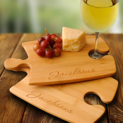 Personalized Bamboo Puzzle Cutting Board - set of 2200  Weddings