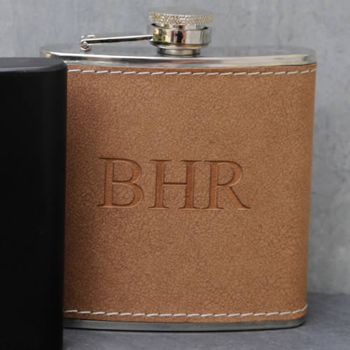 Personalized Hide Stitch Flask200  Weddings