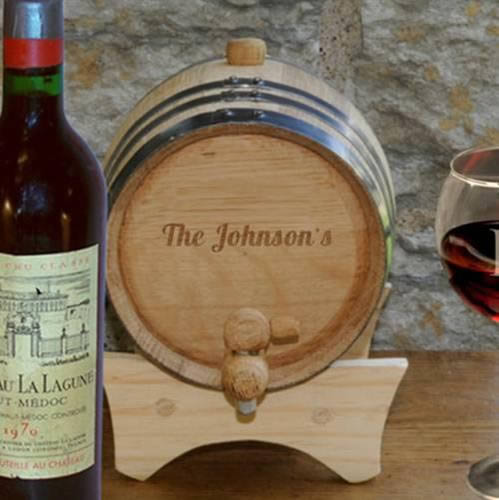 Personalized Mini-Oak Wine Cask  Weddings