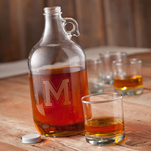 Personalized 64 oz Whiskey Growler200  Weddings