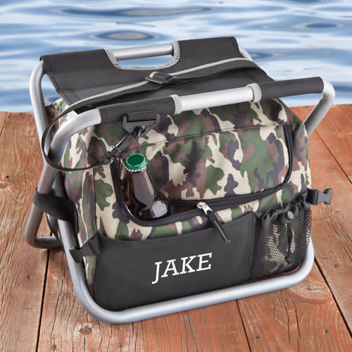Personalized Camouflage Dynasty Sit N Sip Chair Cooler200  Weddings