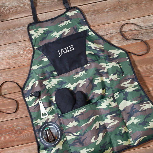 Personalized Camouflage Dynasty Grilling Apron Set200  Weddings