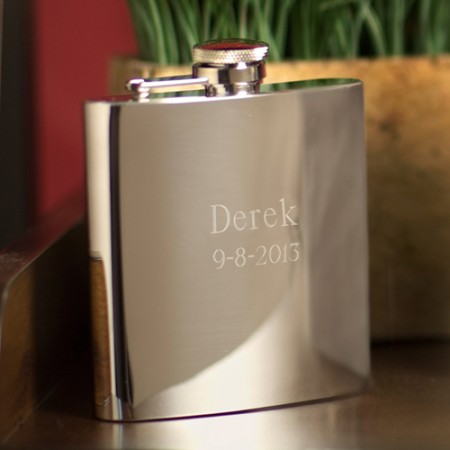 7 oz. Mirror Flask  Weddings