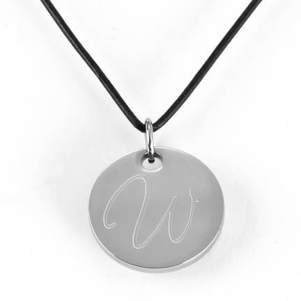 Personalized Round Pendant Necklace (black, brown, red, pink)wholesale/GC293.jpg Wedding Supplies