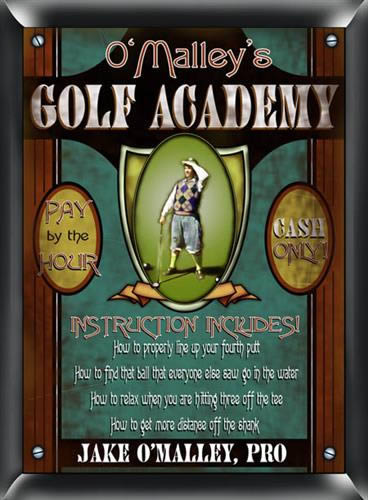 Personalized Golf Academy Sign200  Weddings