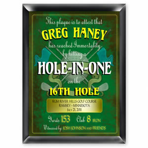 Personalized Personalized Golf Hole in One Plaque200  Weddings